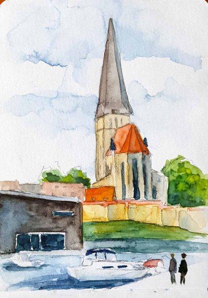 Urban Sketching bei Petri Kirche Rostock (c) Frank Koebsch (5)