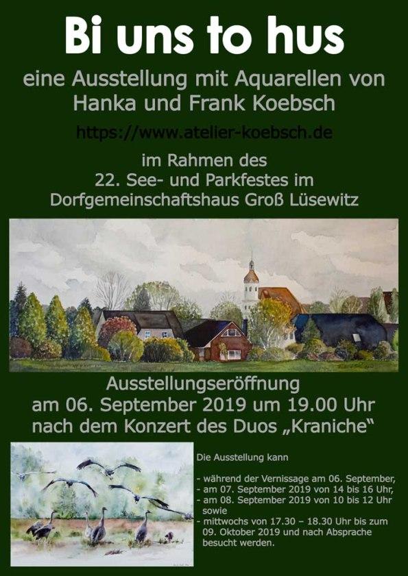 Ausstellung von Hanka & FRank Koebsch zum 22. See- und Parkfest Groß Lüsewitz