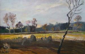 Bernhard Huys, Landschaft mit Torfringel,
