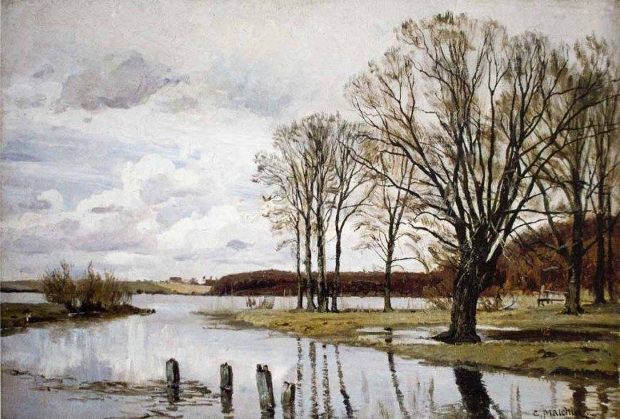 Carl Malchin – Auf dem Schelfwerder bei Schwerin (Herbststimmung), 1896 © Staatliche Schlösser, Gärten und Kunstsammlungen Mecklenburg-Vorpommern.