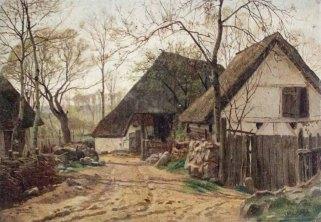 Carl Malchin – Dorfstraße in Mueß, Frühlingsstimmung, 1920 © Staatliche Schlösser, Gärten und Kunstsammlungen Mecklenburg-Vorpommern