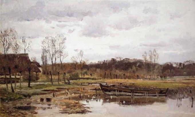 Carl Malchin – Vorfrühling, Mueß am Schweriner See © Staatliche Schlösser, Gärten und Kunstsammlungen Mecklenburg-Vorpommern