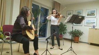 Das Duo - Kraniche - spielt zur Eröffnung des See- und Parkfestes 2019 (c) FRank Koebsch