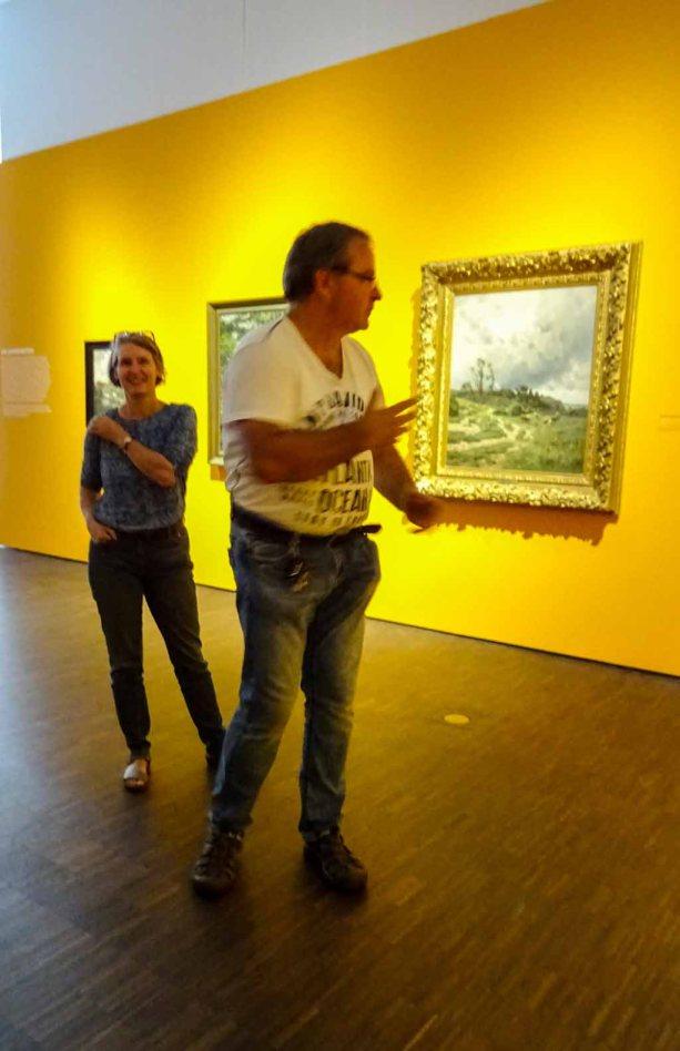 Frau Baumgart und Frank Koebsch beantworten Fragen zu der Ausstellung von Carl Malchin (c) Susanne Haun (2)