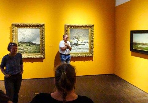 Frau Baumgart und Frank Koebsch beantworten Fragen zu der Ausstellung von Carl Malchin (c) Susanne Haun (3)