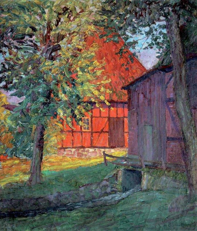 Heinrich Blunck, Sonnige Hofecke, Künstlermuseum Heikendorf