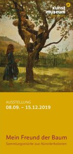Mein Freund der Baum - Sammlungsstücke aus Künstlerkolonien - Flyer des Kunstmuseums Schwaan (1)