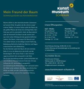 Mein Freund der Baum - Sammlungsstücke aus Künstlerkolonien - Flyer des Kunstmuseums Schwaan (2)