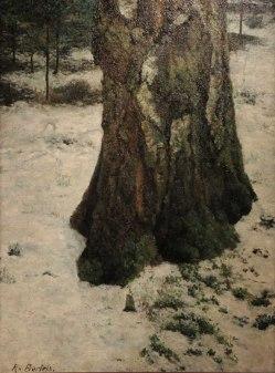 Rudolf Bartels, Alter, Birkenstamm, Im Schnee, KHMR