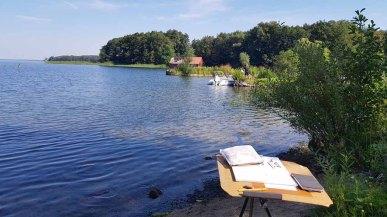 Skizzieren am Schweriner See in Mueß (c) Frank Koebsch (4)