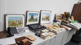 Vorbereitung für den Workshop Aquarelle auf Zigarrenkistenbrettern im Staatlichen Museum Schwerin (c) Frank Koebsch (2)