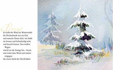 """Advent – Rainer Maria Rilke mit dem Aquarell """"Es weihnachtet"""" von Frank Koebsch"""