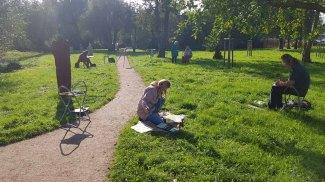 Aquarellkurs im Park hinter dem Kunstmuseum Schwaan (c) Frank Koebsch (12)