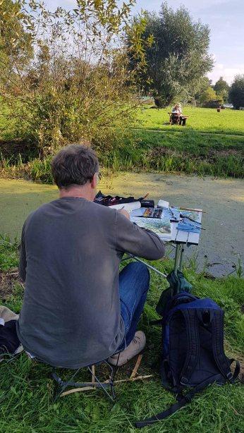 Aquarellkurs im Park hinter dem Kunstmuseum Schwaan (c) Frank Koebsch (14)