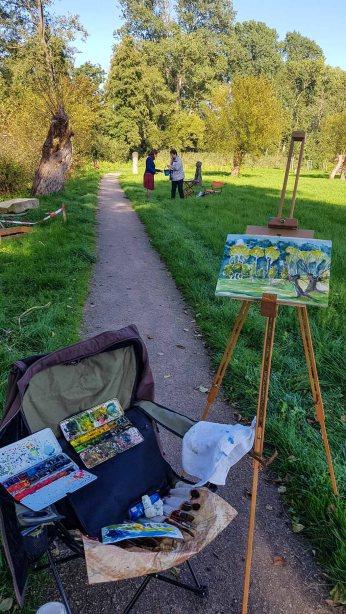 Aquarellkurs im Park hinter dem Kunstmuseum Schwaan (c) Frank Koebsch (15)
