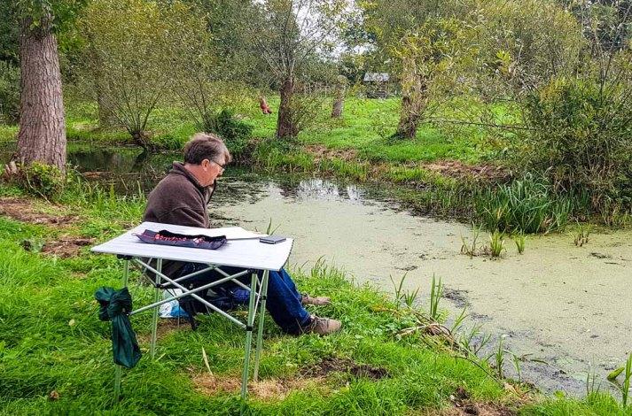 Aquarellkurs im Park hinter dem Kunstmuseum Schwaan (c) Frank Koebsch (5)