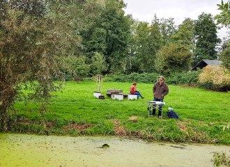 Aquarellkurs im Park hinter dem Kunstmuseum Schwaan (c) Frank Koebsch (6)