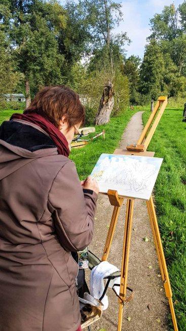 Aquarellkurs im Park hinter dem Kunstmuseum Schwaan (c) Frank Koebsch (7)