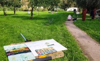 Aquarellkurs im Park hinter dem Kunstmuseum Schwaan (c) Frank Koebsch (8)