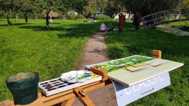 Aquarellkurs im Park hinter dem Kunstmuseum Schwaan (c) Frank Koebsch (9)