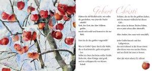 "Geburt Christi – Rainer Maria Rilke mit dem Aquarell ""Winteräpfel"" von Hanka Koebsch"