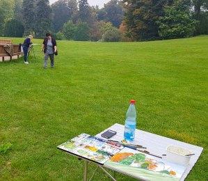 Malreise Rügen - Malen im Schloßpark Putbus (c) FRank Koebsch (4)