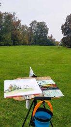 Malreise Rügen - Malen im Schloßpark Putbus (c) FRank Koebsch (5)