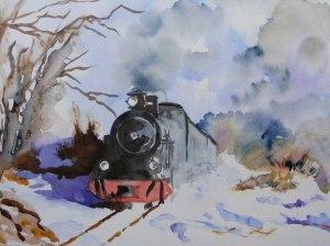 Roland im Schnee (c) Aquarell von Hanka Koebsch