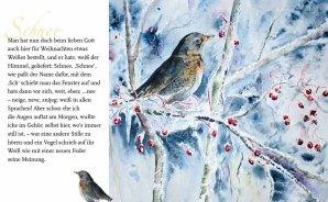 """Schnee – Rainer Maria Rilke mit dem Aquarell """"Kaltes Buffet"""" von Hanka Koebsch"""
