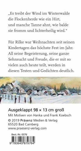 Weiße Weihnacht - Leporello mit Texten von Rainer Maria Rilke und Aquarellen von Hanka & Frank Koebsch RS