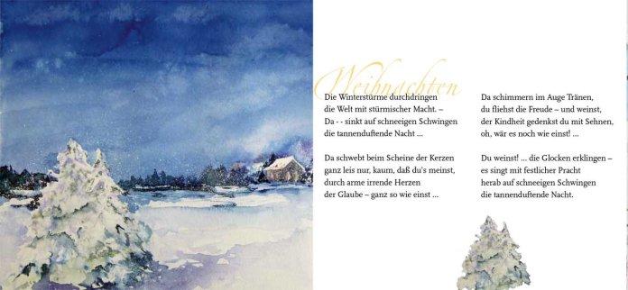 """Weihnachten – Rainer Maria Rilke mit dem Aquarell """"Dezemberlicht"""" von Hanka Koebsch"""