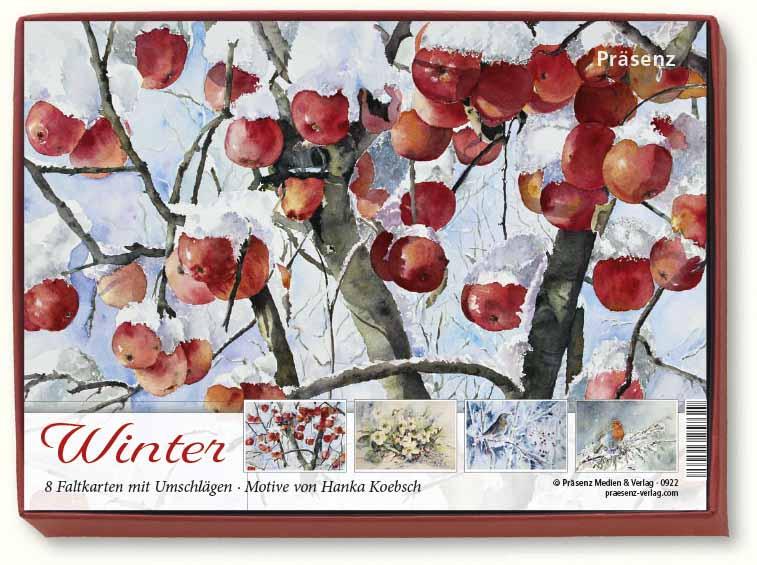 Kunstkarten-Box - Winter - mit Aquarellen von Hanka Koebsch