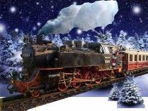 Molli im Winterwald als Vorlage für den Weihnachtsmann Express (c) Frank Koebsch