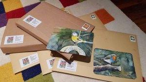 Versenden von Kalendern, Karten und Miniaturen in Aquarell (c) Frank Koebsch