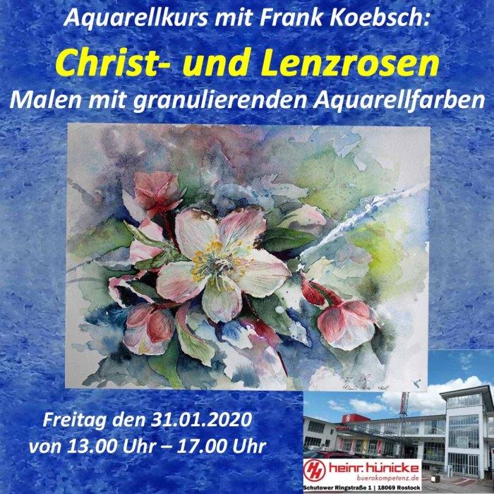 Aquarellkurs Crist- und Lerzrosen mit FRank Koebsch