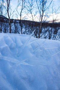 Eiszapfen in der Verschneite norgwegischen Landschaft bei Camp Tamok (c) Frank Koebsch