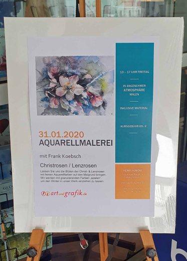 Aquarellkurs - Christ- und Lenzrosen - bei Heinr. Hünicke (c) Frank Koebsch