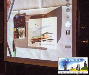 Präsentation von Jens Hübner zum Plein Air Festival – Malen an der Ostsee in der Puro Sky Lounge im Europa-Center Berlin © Frank Koebsch (5)