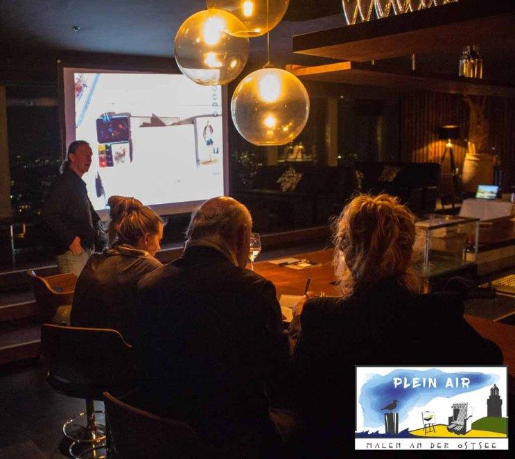 Präsentation von Jens Hübner zum Plein Air Festival – Malen an der Ostsee in der Puro Sky Lounge im Europa-Center Berlin © Frank Koebsch (6)