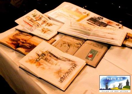 Veröffentlichungen zum urban sketching und Skizzenbüchen von Jens Hübner © Frank Koebsch (3)
