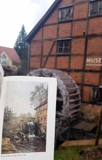 Wassermühle in Langen-Brütz von Carl Malchin aus dem Jahr 1885 vor der Schleifmühle Schwerin