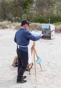 Ölmaler beim Plein Air Festival - Malen an der Ostsee am Strand von Kühlungsborn (c) FRank Koebsch (10)