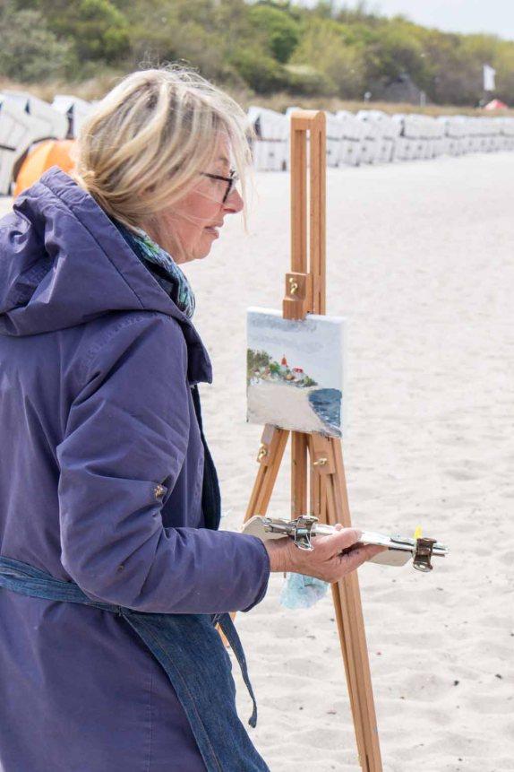Ölmaler beim Plein Air Festival - Malen an der Ostsee am Strand von Kühlungsborn (c) FRank Koebsch (11)