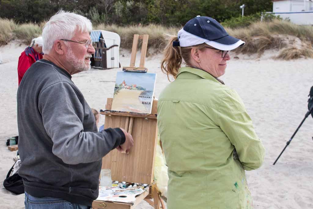 Ölmaler beim Plein Air Festival - Malen an der Ostsee am Strand von Kühlungsborn (c) FRank Koebsch (14)