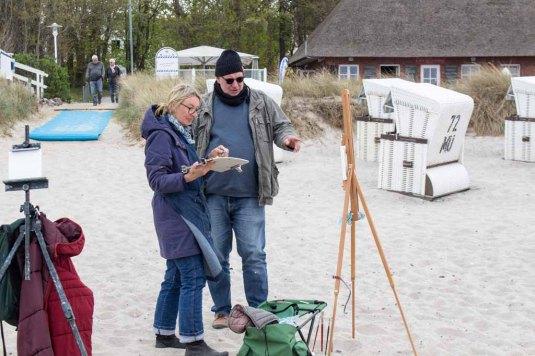 Ölmaler beim Plein Air Festival - Malen an der Ostsee am Strand von Kühlungsborn (c) FRank Koebsch (2)