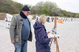 Ölmaler beim Plein Air Festival - Malen an der Ostsee am Strand von Kühlungsborn (c) FRank Koebsch (3)