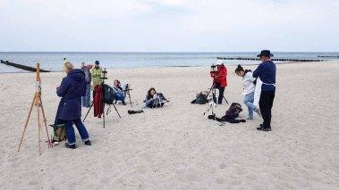 Ölmaler beim Plein Air Festival - Malen an der Ostsee am Strand von Kühlungsborn (c) FRank Koebsch (5)