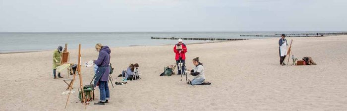 Ölmaler beim Plein Air Festival - Malen an der Ostsee am Strand von Kühlungsborn (c) FRank Koebsch (6)