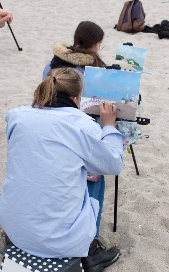 Ölmaler beim Plein Air Festival - Malen an der Ostsee am Strand von Kühlungsborn (c) FRank Koebsch (7)