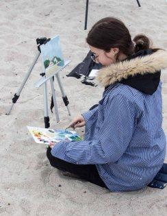Ölmaler beim Plein Air Festival - Malen an der Ostsee am Strand von Kühlungsborn (c) FRank Koebsch (8)